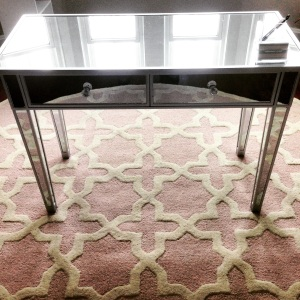 desk and rug
